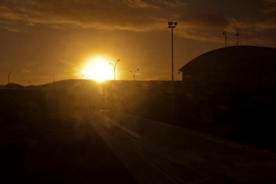 Airport terminal sunrise_0048