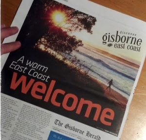 newspaper shot