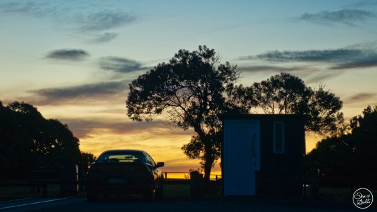 carpark sunset